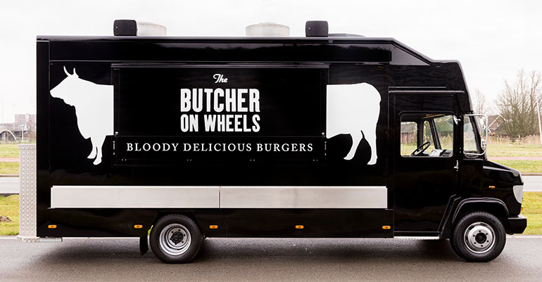 The Butcher on Wheels Truck.