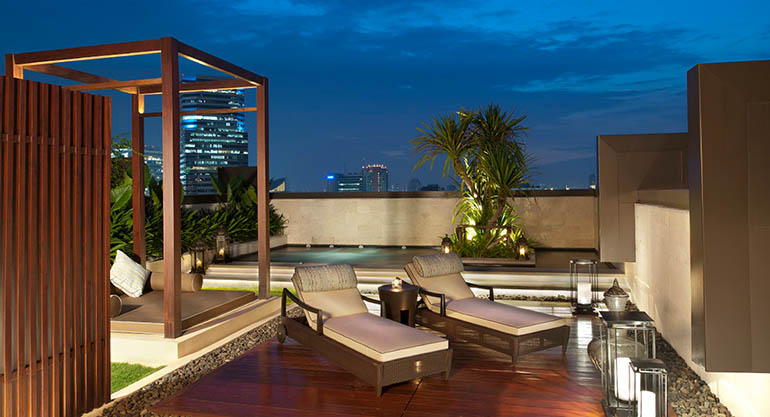 Im Kempinski Bangkok: Royal Suite mit Pool.